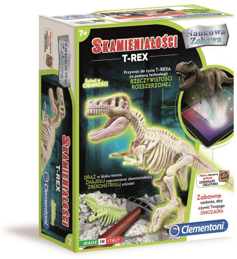 Naukowa Zabawa | Skamieniałości | T-Rex Fluorescencyjny Clementoni Lotos Zabaki Oświecim