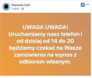 Rapsodia Cafe InfoOswiecim pizza desery lody kawa smoothie