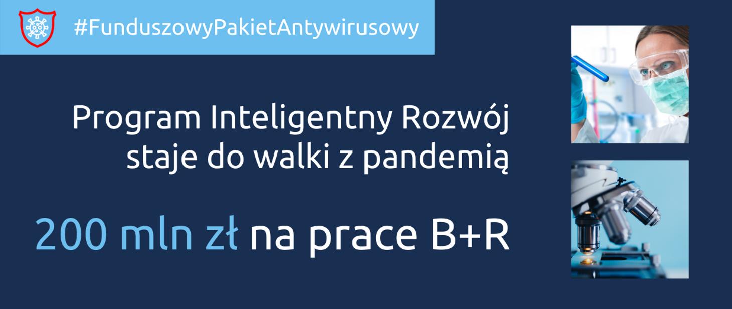 Program Inteligentny Rozwój kontra koronawirus gov-pl