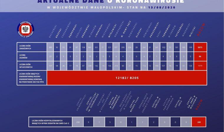 AKTUALIZACJA. Nowe przypadki zakażenia koronawirusem wśród mieszkańców naszego powiatu. Stan na 13 sierpnia Koronawirus Oświęcim info oswiecim powiat oswiecim