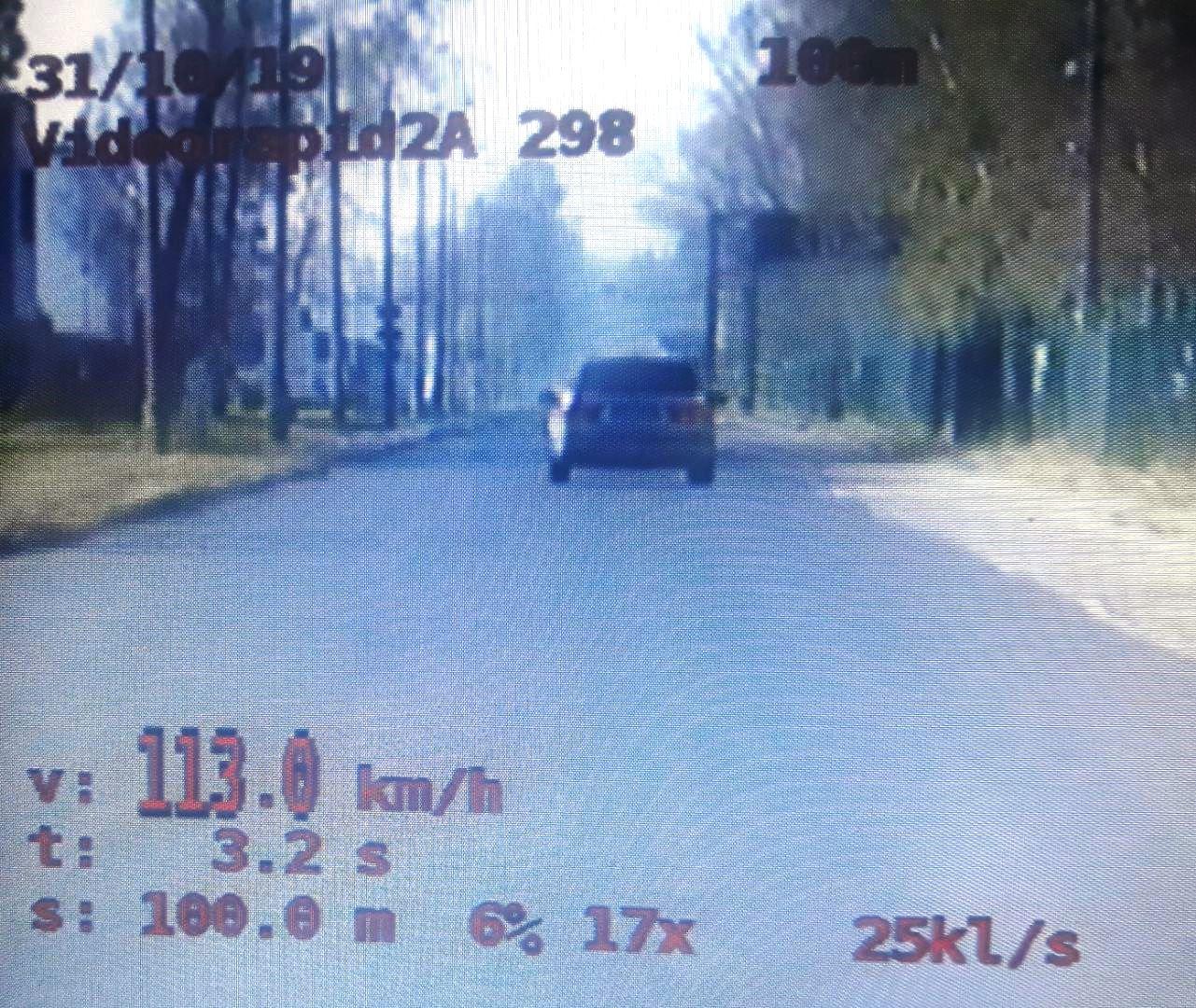 KPP Oświęcim przekroczenie prędkość