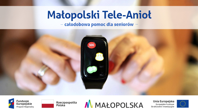 Małopolski Tele Anioł osoba trzymająca w ręce smatwatch policja oswiecim info oswiecim
