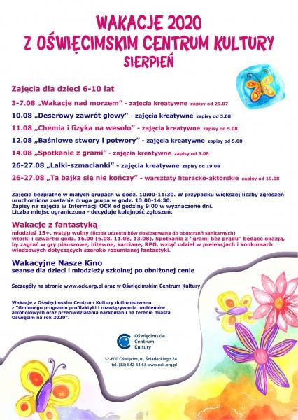 Wakacje z Oświęcimskim Centrum Kultury 2020