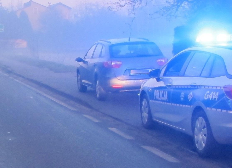 KPP Oświęcim. Kontrola drogowa-1