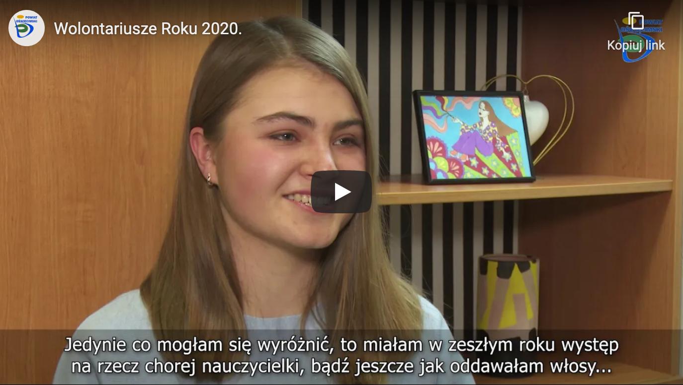 Wolontariusze Roku 2020 Powiat Oświęcim 1