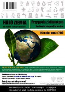 Biblioteka Oświęcim Przygoda z klimatem - spotkanie eksperckie z Marcinem Popkiewiczem