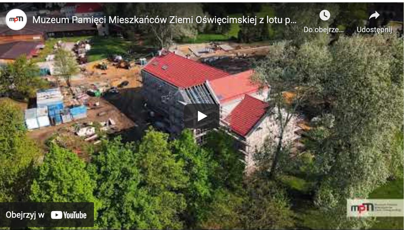 Przyszła siedziba Muzeum Pamięci z lotu ptaka powiat oswiecim pl
