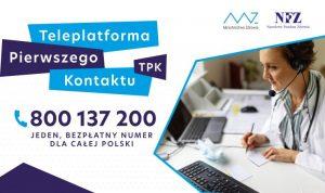 Mininsisterstwo zdrowia Teleplatforma Pierwszego Kontaktu