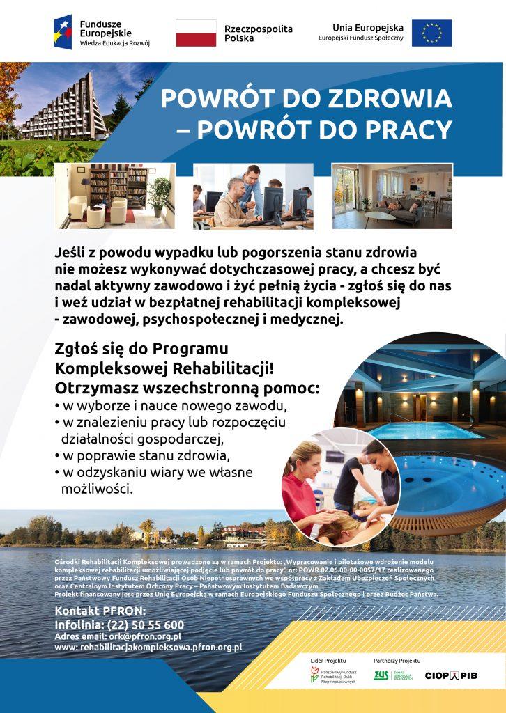 Kompleksowa rehabilitacja szansą na powrót do pracy powiat oswiecim pl